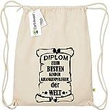 Camiseta stown Organic gymsac Diploma para mejores infantil Enfermeras del Mundo, color naturaleza, tamaño talla única