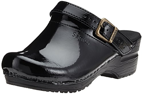 Sanita Damen Freya Open Clogs Schwarz (Black)