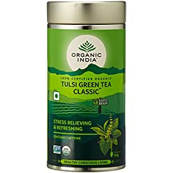 Organic India The Tulsi Green Tea - 100 Grams