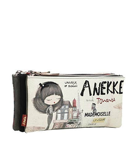 Estuche triple Anekke Couture 21x8x10 cm