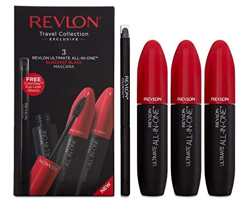 Revlon Ultimate All In One Mascara Geschenkset 3 x 8.5ml Mascara + Colorstay Eyeliner Black -