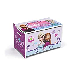 Delta Children – Cofanetto per giocattoli, in legno, motivo: Frozen