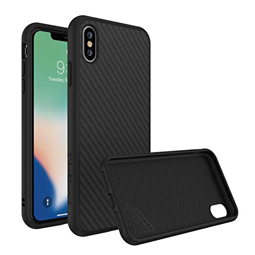 Rhino Shield Case für iPhone XS Max [SolidSuit] | Schock Absorbierende Dünn Designte Premium Schutzhülle [3,5 Meter Fallschutz] - Carbon Fiber