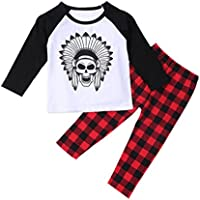 VoBambino Infant Toddler Baby Boys Printed T-shirt Tops+Pants Outfits Clothes