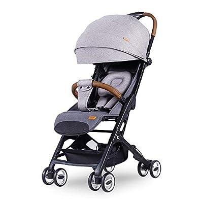 Cochecito de bebé ligero, cochecito de paraguas, plegable, apto para viajes, se pliega en la mochila, cabe en compartimentos superiores, asiento reclinable