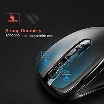 Victsing Mini Schnurlos Maus Wireless Mouse 2.4g 2400 Dpi 6 Tasten Optische Mäuse Mit Usb Nano Empfänger Für Pc Laptop Imac Macbook Microsoft Pro, Office Home 2
