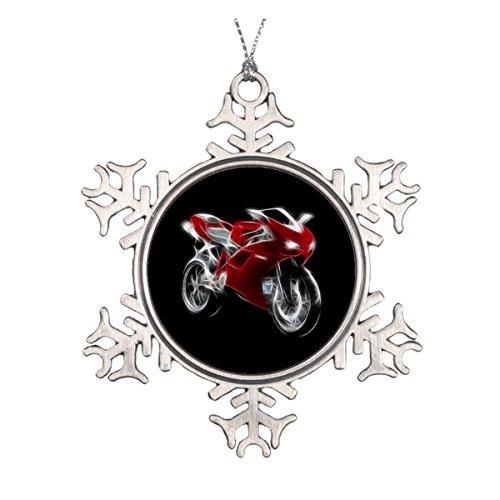 Sport Bike Racing Motorrad Runde Keramik Weihnachten Ornament (Crotch Motorrad Rocket)