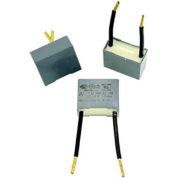 20x Mkp Folien Kondensator Radial 0 22µf 275v Ac Elektronik