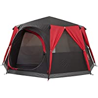 Coleman Tent Cortes Octagon, 6 to 8 man Festival tent, large Dome Tent with full standing head height, 100% waterproof Family Camping Tent with sewn in groundsheet