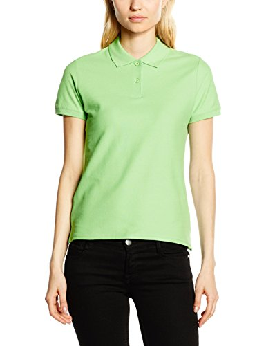Fruit of the Loom Damen Poloshirt Ss078m Grün - Grün (Limette)