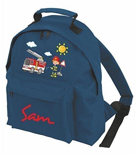 Kindergartenrucksack Classic Kinderrucksack mit eigenen Namen & Wunschmotiv (dunkelblau)
