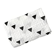Baby Pucktücher, Baywell Double Schicht Baby Wrap Swaddle Blanket Decke, 120*120 (A5(Schwarzes Dreieck))