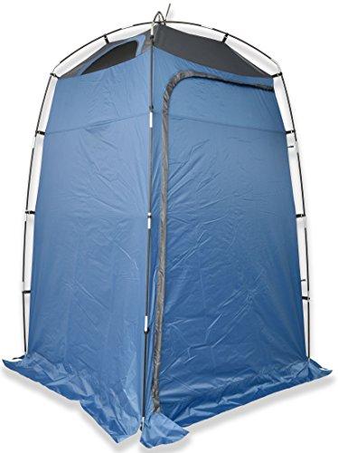 """Outent® Duschzelt, """"Invisible"""" Umkleidezelt, Toilettenzelt, Kabinenzelt, Gartendusche, Campingzelt, Umkleidekabine mit 2 Ablagefächern und Belüftung Maße (H/B/T): 210 x 130 x 130 cm"""