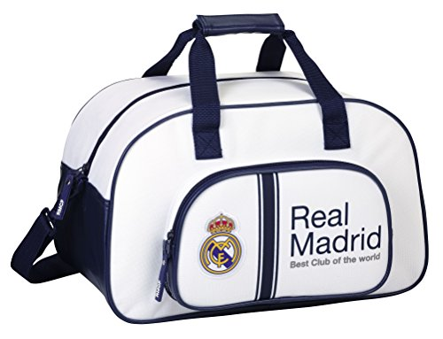 Safta Sf-711754-273 Real Madrid bolsa de viaje, 40 cm, Multicolor