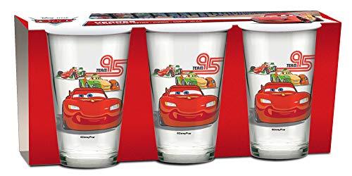 empireposter Glas-Set - Cars - Lightning - 237 ml - 3 Gläser - Trinkglas Kinder Geschirr