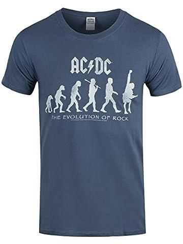 CID - AC/DC - Evolution of Rock Logo T-Shirt Größe L