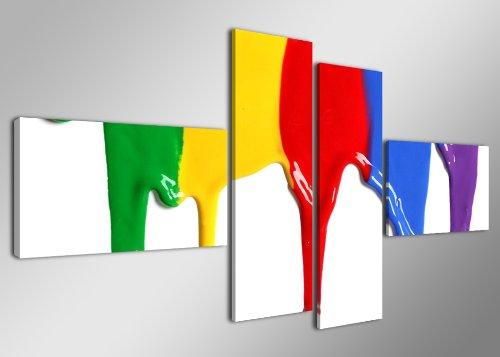 Quadro su tela colors 160 x 70 cm 4 tele modello nr xxl 6529. i quadri sono montati su telai di vero legno. stampa artistica intelaiata e pronta da appendere