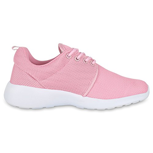 Best-boots Donne Unisex Scarpe Da Corsa Sneaker Fitness Sneakers Sportive Rosa Bianco Nuovo