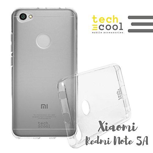 Techcool Xiaomi Redmi Note 5A Hülle SchutzHülle Premium Soft Flex TPU Silikon Transparent für Xiaomi Redmi Note 5A l Case, Cover, Handy [Ultra Dünn 1,5mm] [Kratzfest] (Klar)