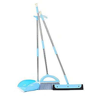 Alien Storehouse Durable Removable Broom und Dustpan Standing Upright Griffe Sweep Set mit Langem Griff, A6