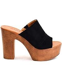 0d624863f18 Amazon.es  zapatos con plataforma - Zuecos   Zapatos para mujer ...
