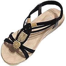 Sandalias para Mujer, RETUROM Moda de verano Bohemia dulce con cuentas sandalias para zapatos de playa