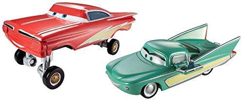 Disney/Pixar Cars Collector Die-Cast Vehicle (2-Pack) - Hydraulic Lightning Ramone & Pit Crew Member Flo by Mattel (Disney Cars 2-pit Crew)