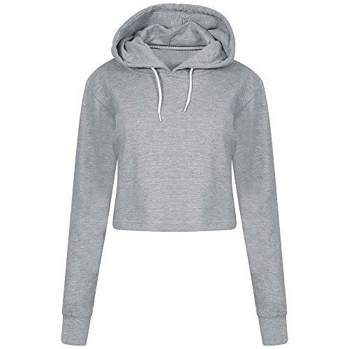 TWBB Damen Mantel,Herbst Winter Einfarbig Slim-Fit Kurz Pullover Sweatshirt Outwear Oberteile