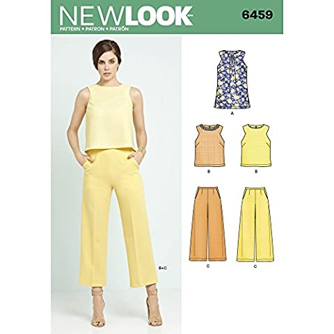New Look Schnittmuster 6459A Misses 'Tunika oder Top und beschnitten
