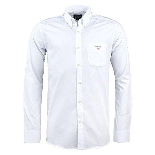 GANT Chemise casual Homme Blanc/White