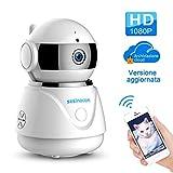 Best Baby monitor video per due camere - Videocamera di Sicurezza Wifi Interno, SZSINOCAM Telecamera di Review