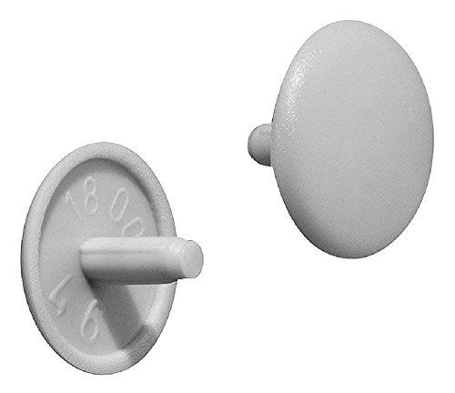 Gedotec Schrauben-Kappen rund Verschluss-Stopfen Kunststoff Möbel-Abdeckkappen grau | H1115 | Ø 12 x 2,5 mm | für Kopflochbohrung PZ2 | 50 Stück