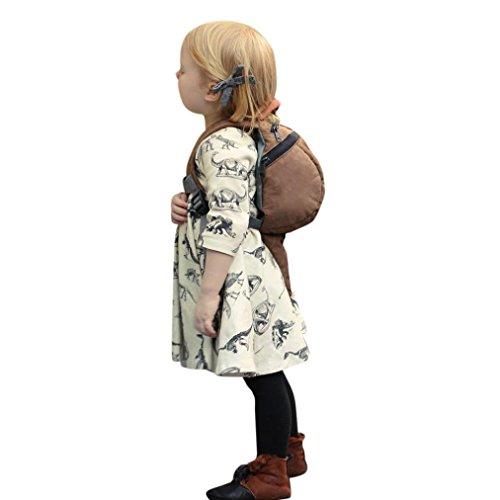 Kleid Dinosaurier Drucken Kleinkind Säugling Baby Mädchen Karikatur Sonne Kleider (12 Kleinkind-mädchen-tennis-schuhe Größe)