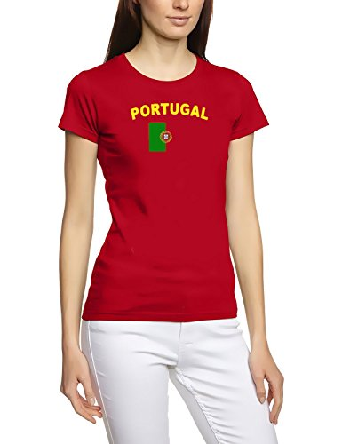 Portugal T-Shirt girly rot, Gr.L