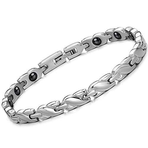 Huoduoduo Armband, Damenarmband, Damen Mini, gesundes Magnetarmband, 316 Titanstahl