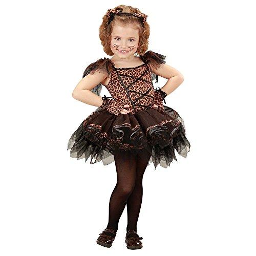 Costume vestito abito travestimento carnevale bambina leopardo ballerina