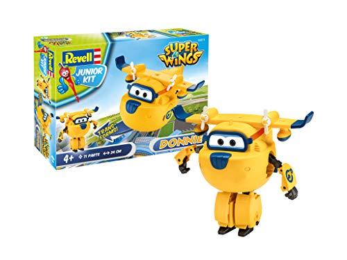 s Super Wings 4 Der Bausatz mit dem Schraubsystem für Kinder ab 4 Jahre, Bauen-Schrauben-Spielen, mit tollen Funktionen, gelb, ca. 24 cm ()