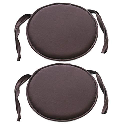 Bechases sedia cuscino rotondo cuscini per sedie con lacci sedia tappetino per casa, ufficio, giardino, patio, caffè shop-2confezione coffee