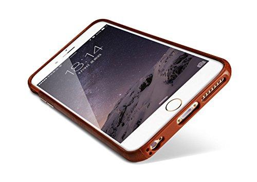 iPhone 6 / 6s Plus Echtleder Hülle / Ultradünn / Case (Schwarz) Braun