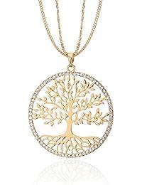 144246a05c5b Amazon.es  arbol de la vida - Chapado en oro  Joyería