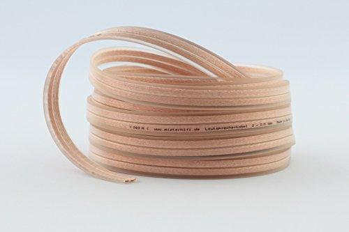 100/% OFC Kupfer 2x 0,5mm² weiß Lautsprecherkabel-Ring 25m