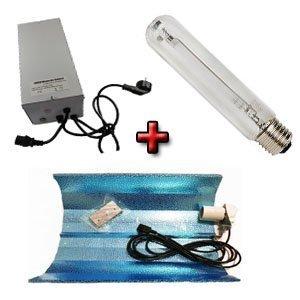 Kit iluminación 600W: Balastro + Reflector Estuco