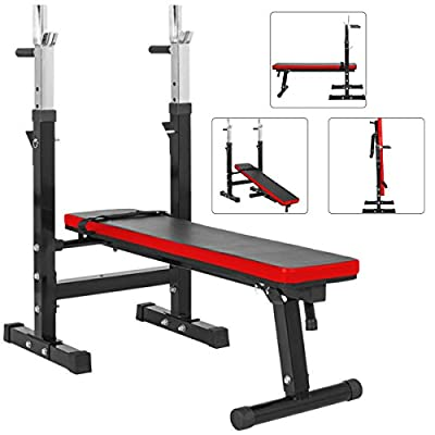 TnP Adjustable Folding Weight Bench Shoulder Folding Home Heavy Duty Multiuse Barbell Flat Exercise Gym - (XQBH-10) by TnP Acc.