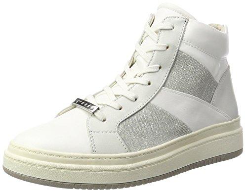 Tamaris 25224, Sneaker a Collo Alto Donna Bianco (White Comb)