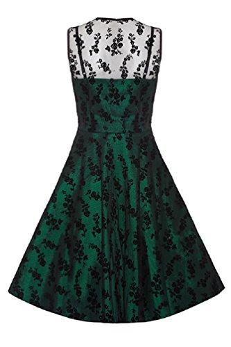Neue Smaragd Grün Voodoo Vixen 50er Jahre Rockabilly Vintage Stil Spitzen Kleid (4XL) -