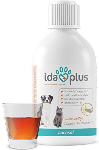 IdaPlus - BARF Lachsöl für Hunde, Katzen & Pferde | Reich an Vitamin D, Omega-3 & 6 Fettsäuren | Fördert starken Knochenaufbau und sorgt für ein glänzendes Fell (500 ml)