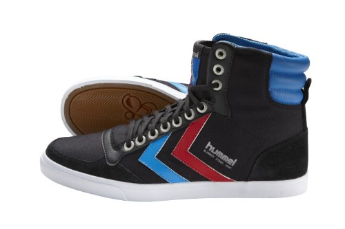 hummel-slimmer-63111-sneaker-unisex-adulto-nero-schwarz-jet-black-brilliant-blue-ribbon-red-45