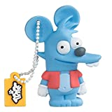 Tribe Los Simpsons Itchy - Memoria USB 2.0 de 8 GB Pendrive Flash Drive de Goma con Llavero,...