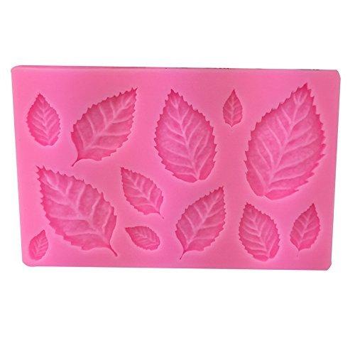 Aeromdale Blattform Silikon Drücken Form Blätter Kuchen Dekoration Fondant Cookies Tools 3D Lebensmittelechtes Silikon Backform gumpaste Candy (Silikon Cookie Blatt)
