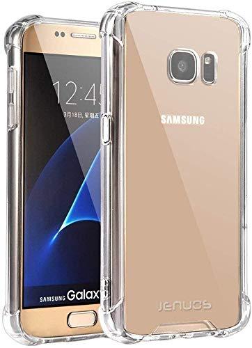"Coque Samsung Galaxy S7, Jenuos Transparent Coque Antichoc Etui en Silicone TPU pour Samsung Galaxy S7 5.1"" Transparent (S7-TPU-CL)"